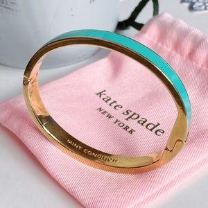 Like New Teal and Gold Kate Spade Bangle Bracelet!